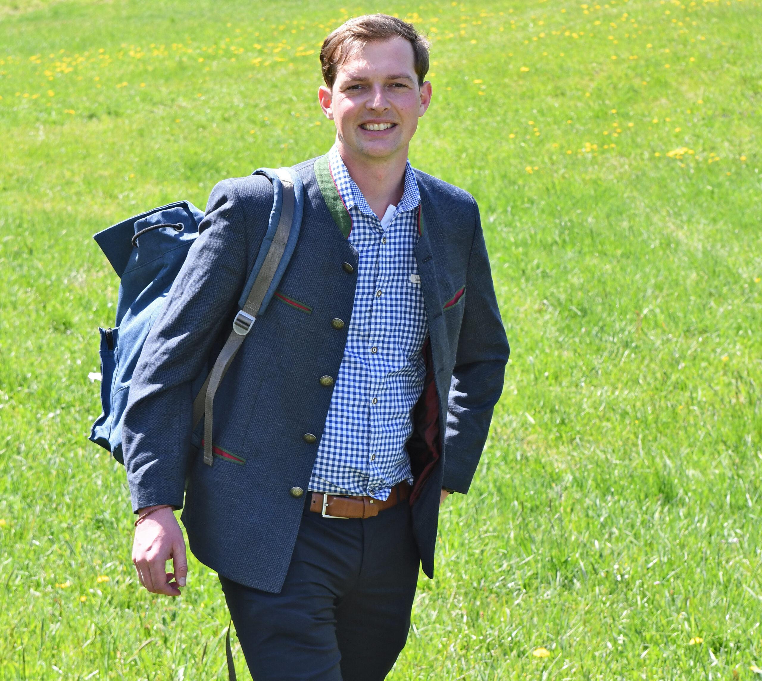 Wandern mit dem grünen Kandidaten