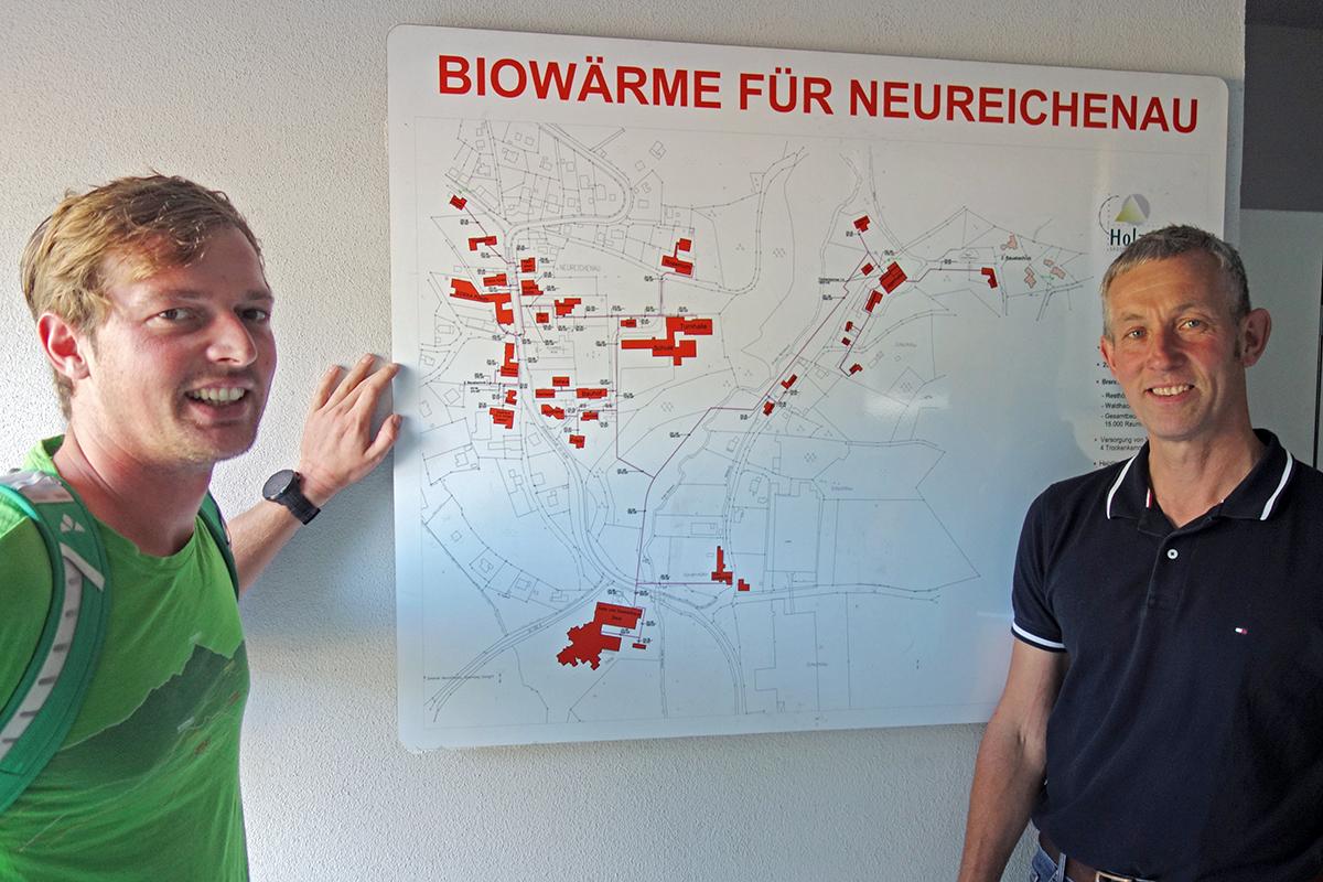 Bundestagskandidat besichtigt nachhaltige Wärmeversorgung Resch
