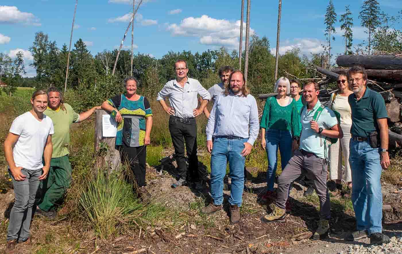 Niederbayerische Kandidaten sprechen mit Toni Hofreiter über unseren Wald